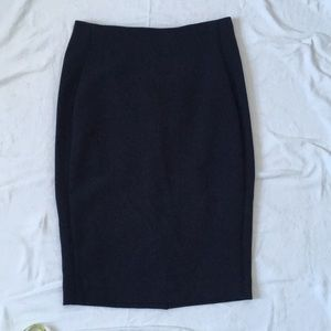 The Limited high waist navy pencil skirt size 0